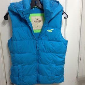 Bright Blue Puffy Hollister Vest